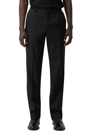 Burberry Men's Wool Formal Pants w/ Double-Layer Pockets
