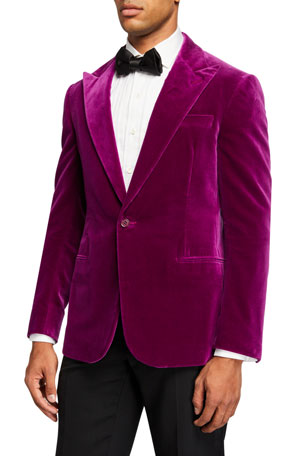 Ralph Lauren Purple Label Men's Solid Velvet Dinner Jacket, Pink