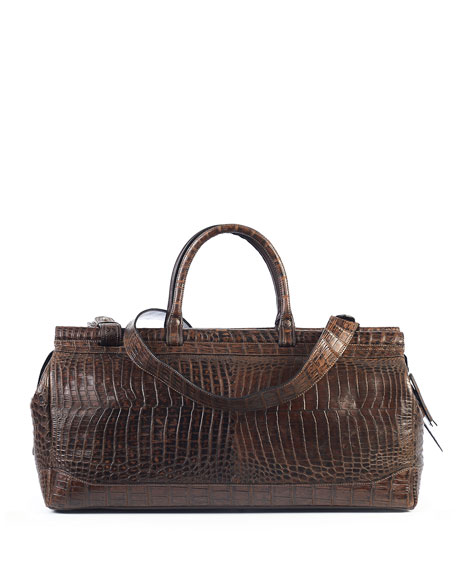 Image 1 of 1: Men's Livingstone Crocodile Weekender Bag