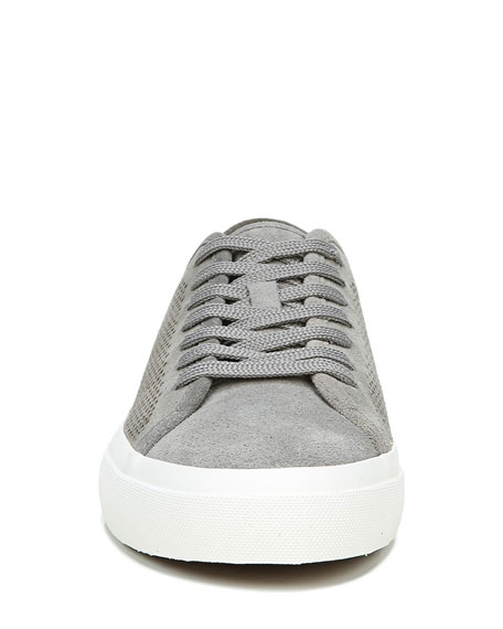 Image 5 of 5: Vince Men's Farrell-5 Perforated Suede Sneakers