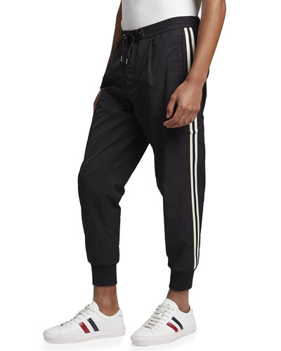 Moncler Men's Side-Stripe Jogger Pants