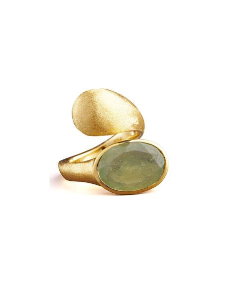 Green Sapphire Wrap Ring