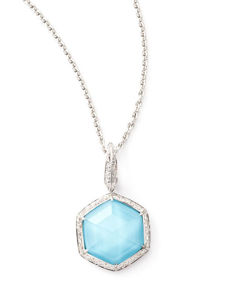 Deco Mini Hexagon Pendant Necklace