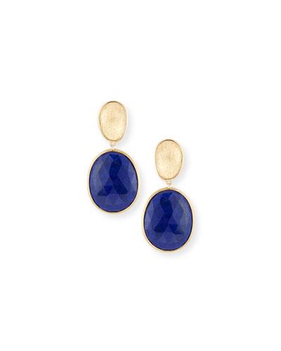 Lunaria Lapis Drop Earrings