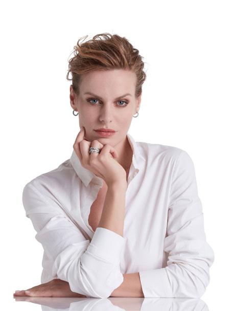 Goa Seven-Row White Gold Diamond Ring