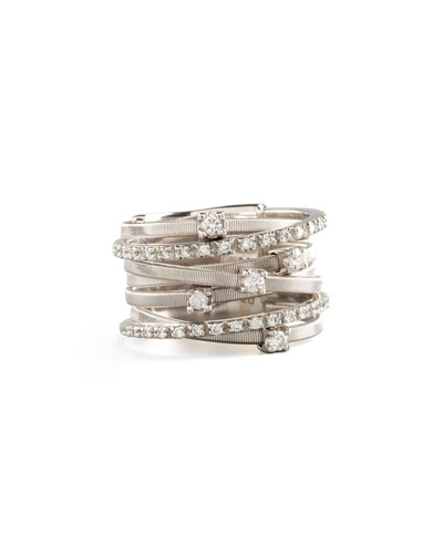Marco Bicego Goa Seven-Row White Gold Diamond Ring