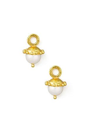 Elizabeth Locke White Pearl Earring Pendants