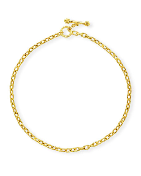 """Orvieto 19k Gold Link Necklace, 17""""L"""