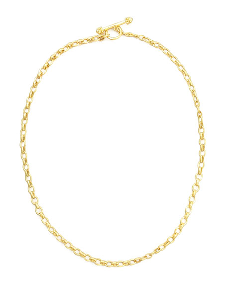 "Cortina 19k Gold Link Necklace, 17""L"