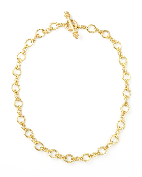 "Riviera Gold 19k Link Necklace, 17""L"