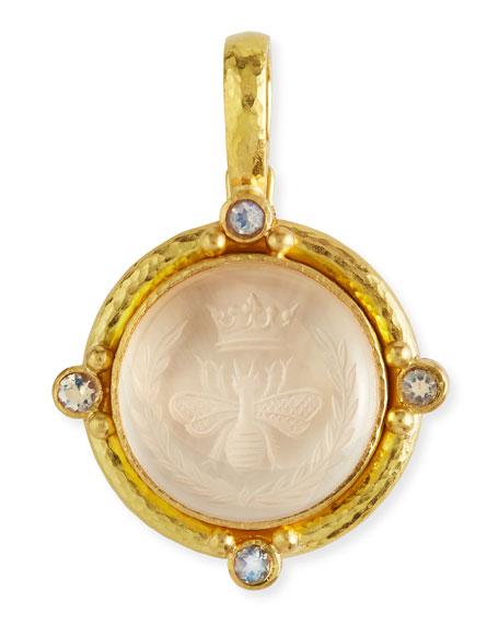 Elizabeth locke rock crystal queen bee intaglio pendant neiman marcus rock crystal queen bee intaglio pendant aloadofball Gallery