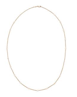 "Roberto Coin 24"" Rose Gold 21-Diamond Station Necklace"
