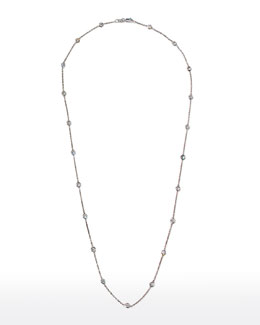 "Roberto Coin 24"" White Gold Diamond Station Necklace, 2.38ct"