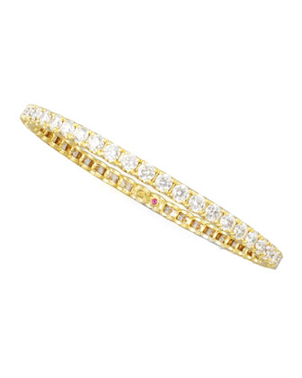60mm Yellow Gold Diamond Eternity Bangle, 11.15ct