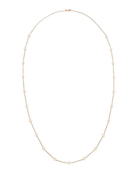 "36"" Rose Gold Diamond Station Necklace, 4.18ct"