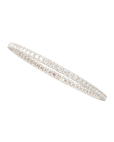 67mm White Gold Diamond Eternity Bangle, 8.45ct