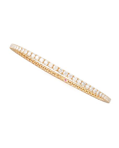 64mm Rose Gold Diamond Eternity Bangle, 5.5ct