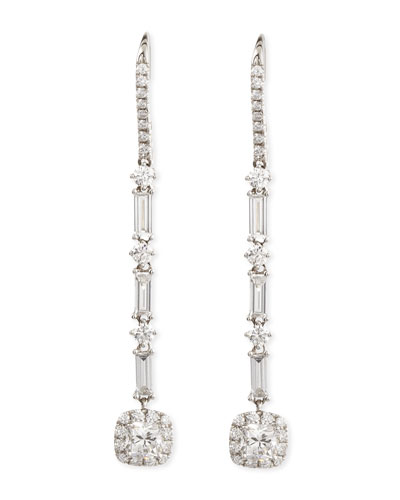 Deco Collection Diamond Drop Earrings