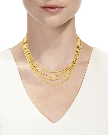 Cairo 18k Seven-Strand Necklace