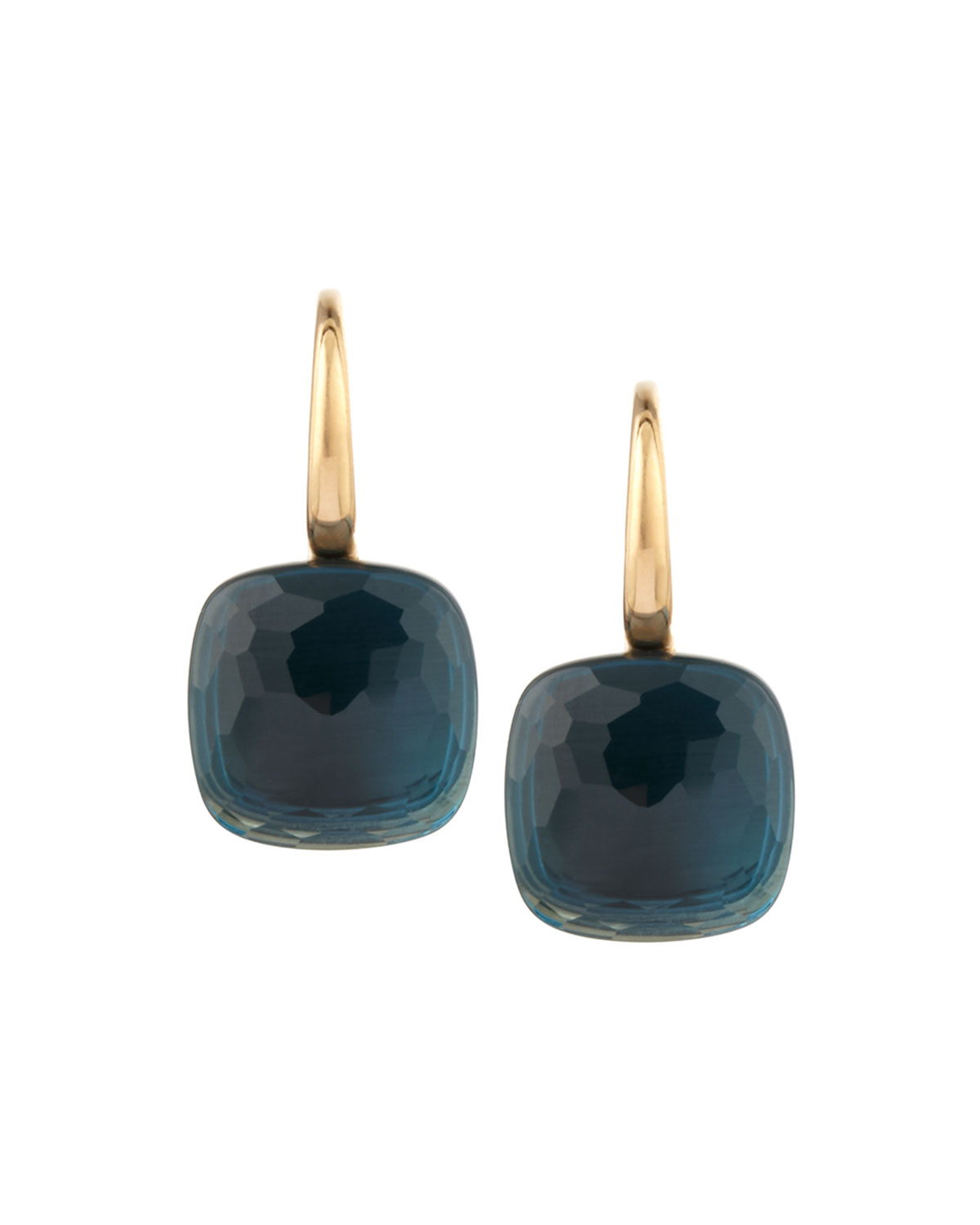 Pomellato Nudo 18k London Blue Topaz Earrings