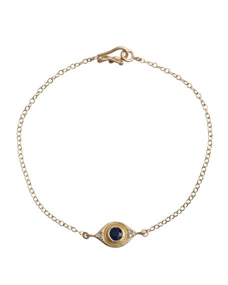 Evil Eye Bracelet with Sapphire & Diamonds