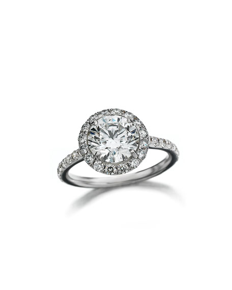 18k White Gold Center of My Universe Solitaire Diamond Ring, 1.63 TCW