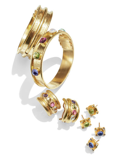 Tutti Frutti Stone-Studded 19k Gold Bangle