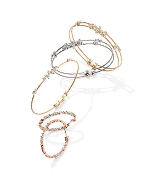 Diamond Confetti Single Wire Bracelet, Yellow Gold