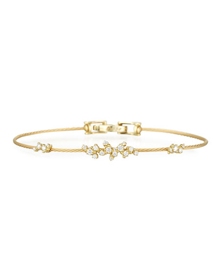 Paul Morelli Diamond Confetti Single Wire Bracelet, Yellow