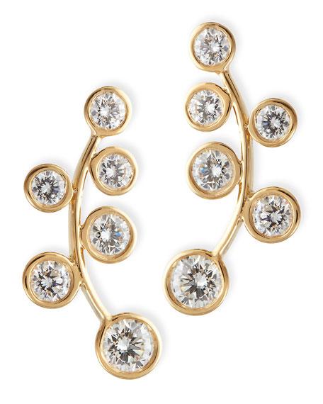 18k Yellow Gold & Diamond Climber Earrings