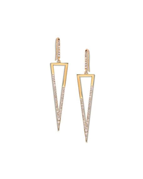 Lana 14k Fatale Triangle Earrings with Diamonds
