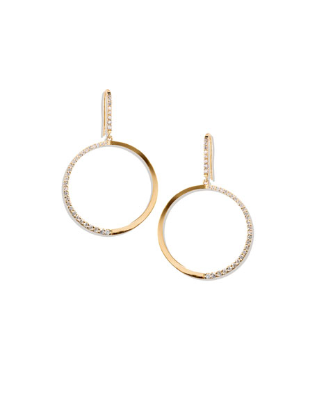 LANA 14k Fatale Hoop Earrings with Diamonds
