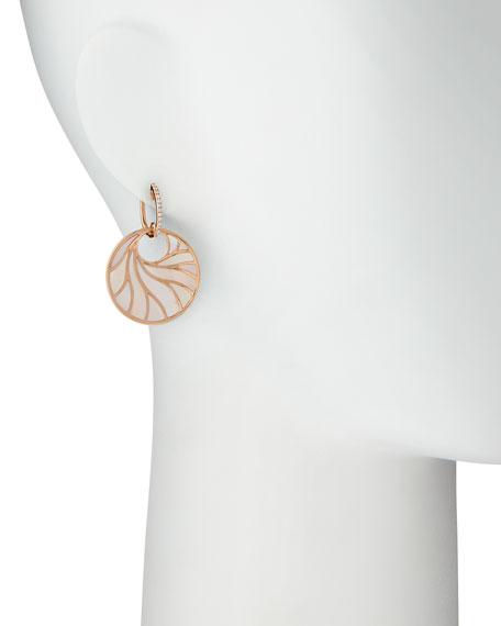 Medium Pink Mother-of-Pearl & Diamond Venus Earrings