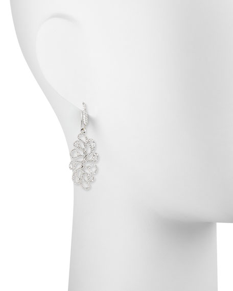 Image 2 of 2: Miseno Sealeaf Collection 18k White Gold Diamond Earrings