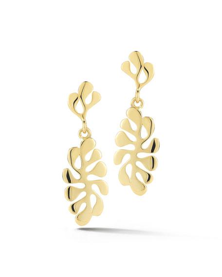 Miseno Sealeaf Small 18k Gold Drop Earrings eC7N4BCSC