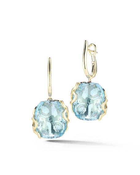 Miseno Sealeaf Collection Blue Topaz Earrings