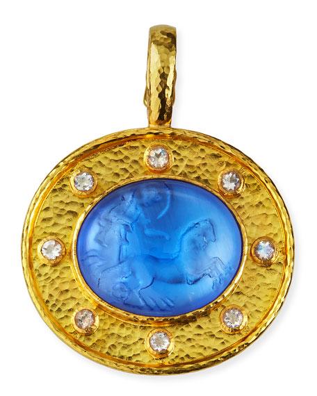 Elizabeth Locke Cerulean Goddess Chariot Pendant