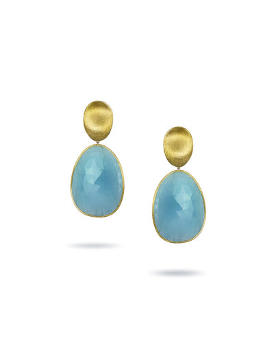 Lunaria 18k Aquamarine Drop Earrings