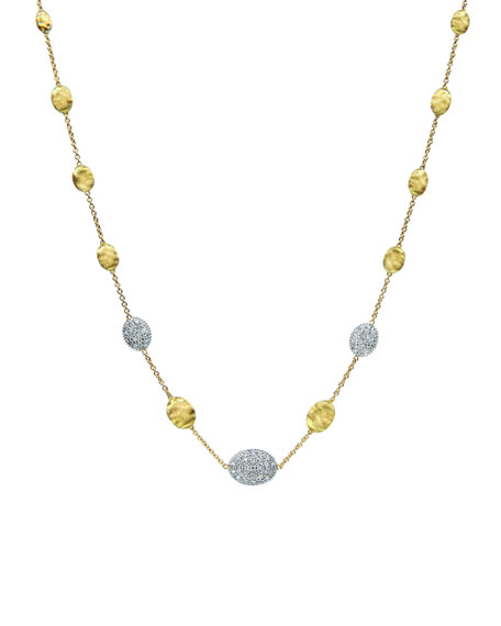 "Siviglia Diamond Station Necklace, 18""L"