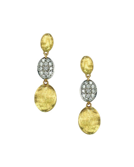 Siviglia Diamond Triple-Drop Earrings
