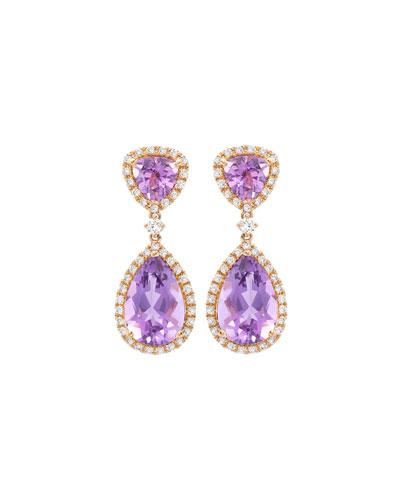 Signature Amethyst & Diamond Drop Earrings