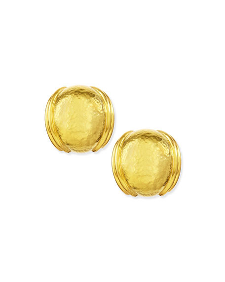 19k Gold Small Puff Earrings