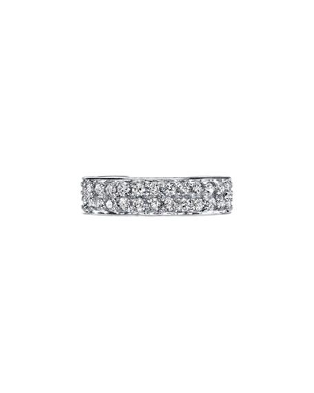 18k White Gold Diamond Double-Row Ear Cuff, Each