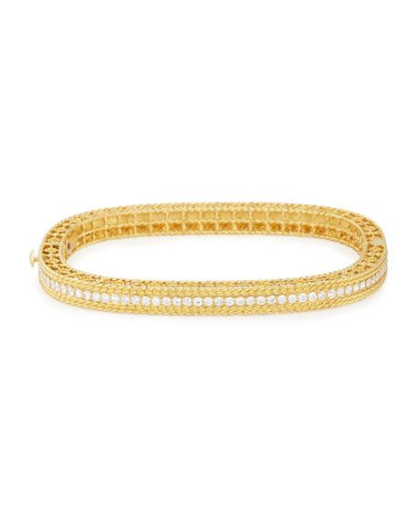 Roberto Coin Princess 18k Gold Petite Bangle with Diamonds