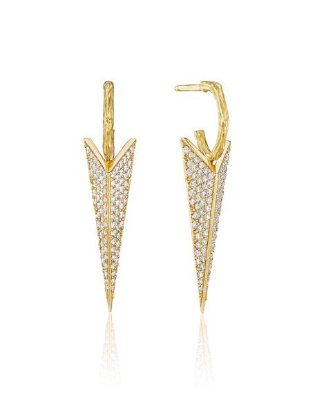 Mimi So Wonderland Pave Diamond Stinger Drop Earrings