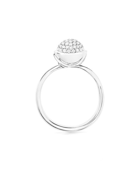 Bouton 18K Yellow Gold Pave Diamond Ring, Size 7/54