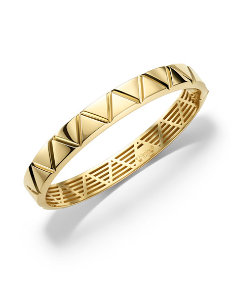 18K Yellow Gold Triangoli Bangle Bracelet