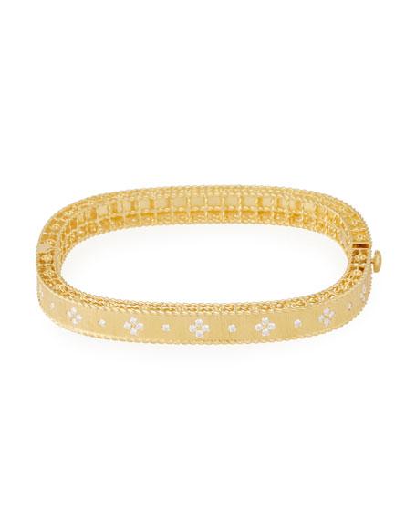 Roberto Coin Princess 18K Yellow Gold Narrow Diamond Bangle