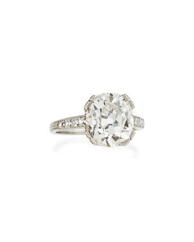 Estate Edwardian Diamond Cushion Engagement Ring, Size 6