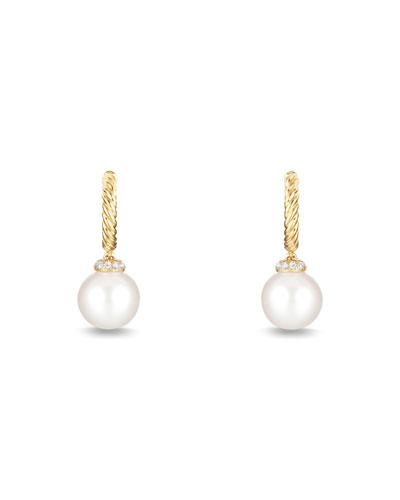 Solari 18K Gold & Pearl Earrings with Diamonds